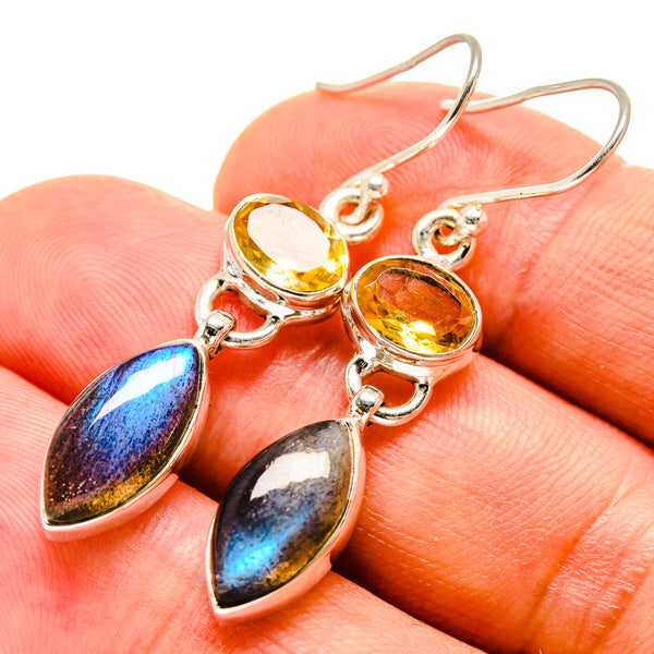 Labradorite Earrings handcrafted by Ana Silver Co - EARR415354