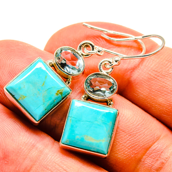 Arizona Turquoise Earrings handcrafted by Ana Silver Co - EARR415433