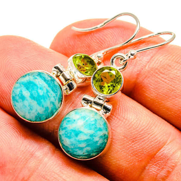 Amazonite Earrings handcrafted by Ana Silver Co - EARR415505