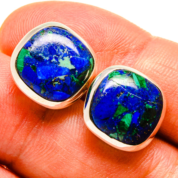 Azurite Earrings handcrafted by Ana Silver Co - EARR415538
