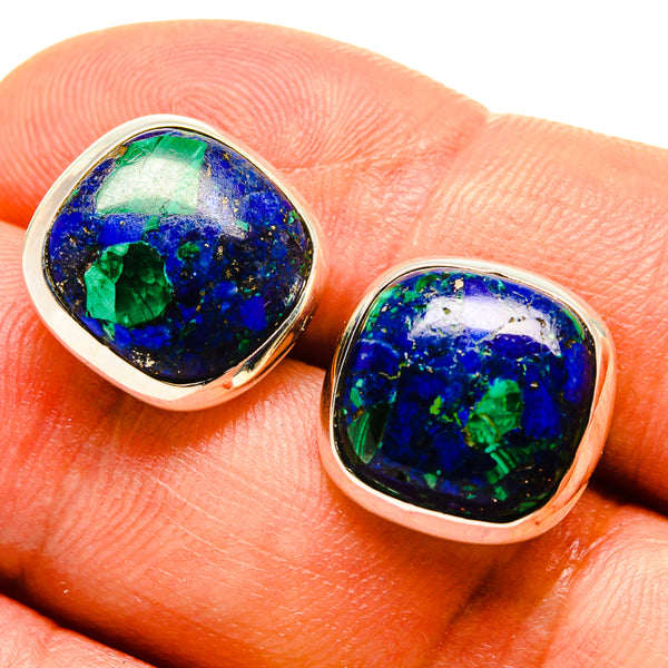 Azurite Earrings handcrafted by Ana Silver Co - EARR415575