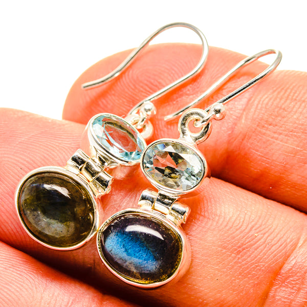 Labradorite Earrings handcrafted by Ana Silver Co - EARR415578