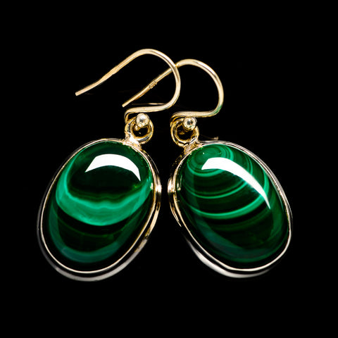 Malachite Earrings handcrafted by Ana Silver Co - EARR402793