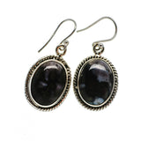 Gabbro Stone Earrings handcrafted by Ana Silver Co - EARR392475