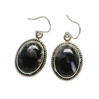 Gabbro Stone Earrings handcrafted by Ana Silver Co - EARR392486