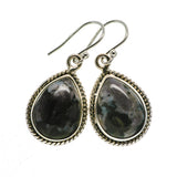 Gabbro Stone Earrings handcrafted by Ana Silver Co - EARR392627