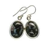 Gabbro Stone Earrings handcrafted by Ana Silver Co - EARR392654
