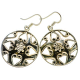 Floral Pattern Earrings handcrafted by Ana Silver Co - EARR400377