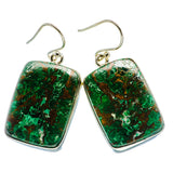 Chrysocolla Earrings handcrafted by Ana Silver Co - EARR400811