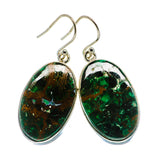 Chrysocolla Earrings handcrafted by Ana Silver Co - EARR401000