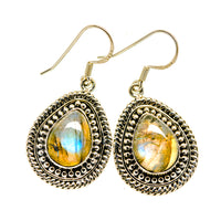 Labradorite Earrings handcrafted by Ana Silver Co - EARR410169