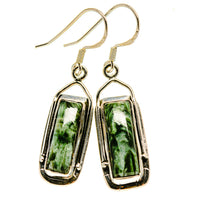 Seraphinite Earrings handcrafted by Ana Silver Co - EARR413863