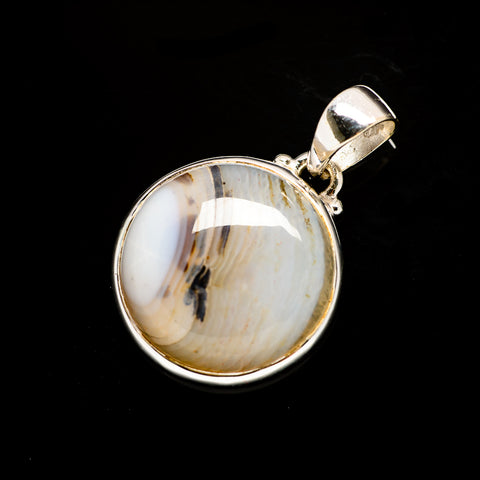 Dendritic Opal Pendants handcrafted by Ana Silver Co - PD731377