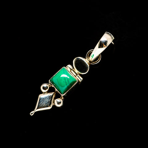 Malachite Pendants handcrafted by Ana Silver Co - PD731705