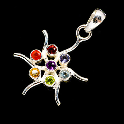 Multi-Stone Chakra Pendants handcrafted by Ana Silver Co - PD678707