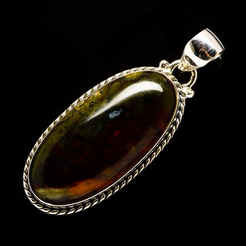 Indonesian Plume Agate Pendants handcrafted by Ana Silver Co - PD707871