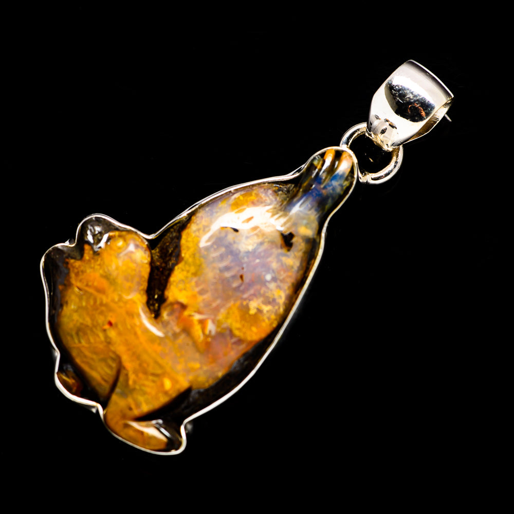 Boulder Opal Pendants handcrafted by Ana Silver Co - PD715634