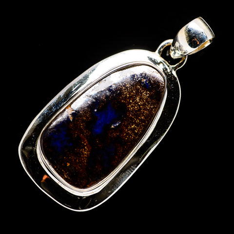Boulder Opal Pendants handcrafted by Ana Silver Co - PD720163