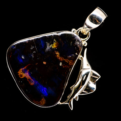 Boulder Opal Pendants handcrafted by Ana Silver Co - PD722922