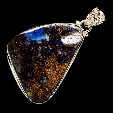 Boulder Opal Pendants handcrafted by Ana Silver Co - PD723072
