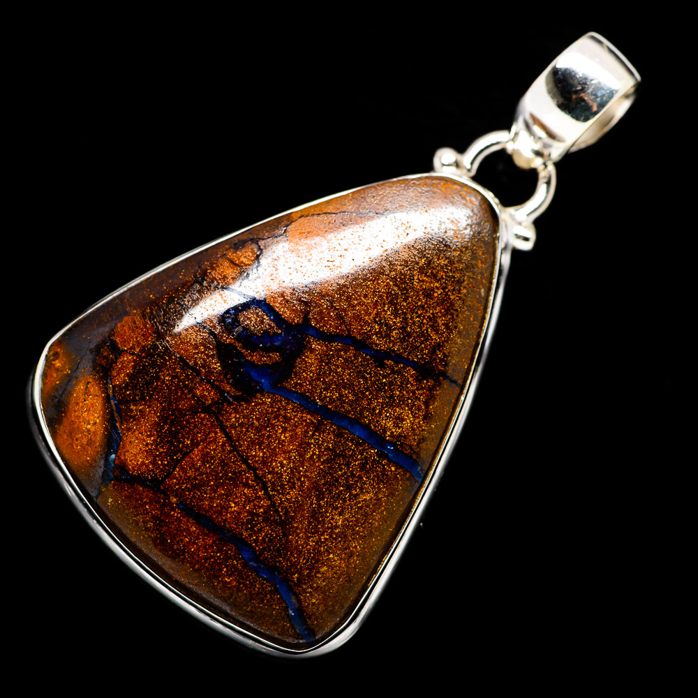 Boulder Opal Pendants handcrafted by Ana Silver Co - PD724144