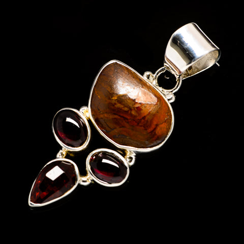 Boulder Opal Pendants handcrafted by Ana Silver Co - PD725173