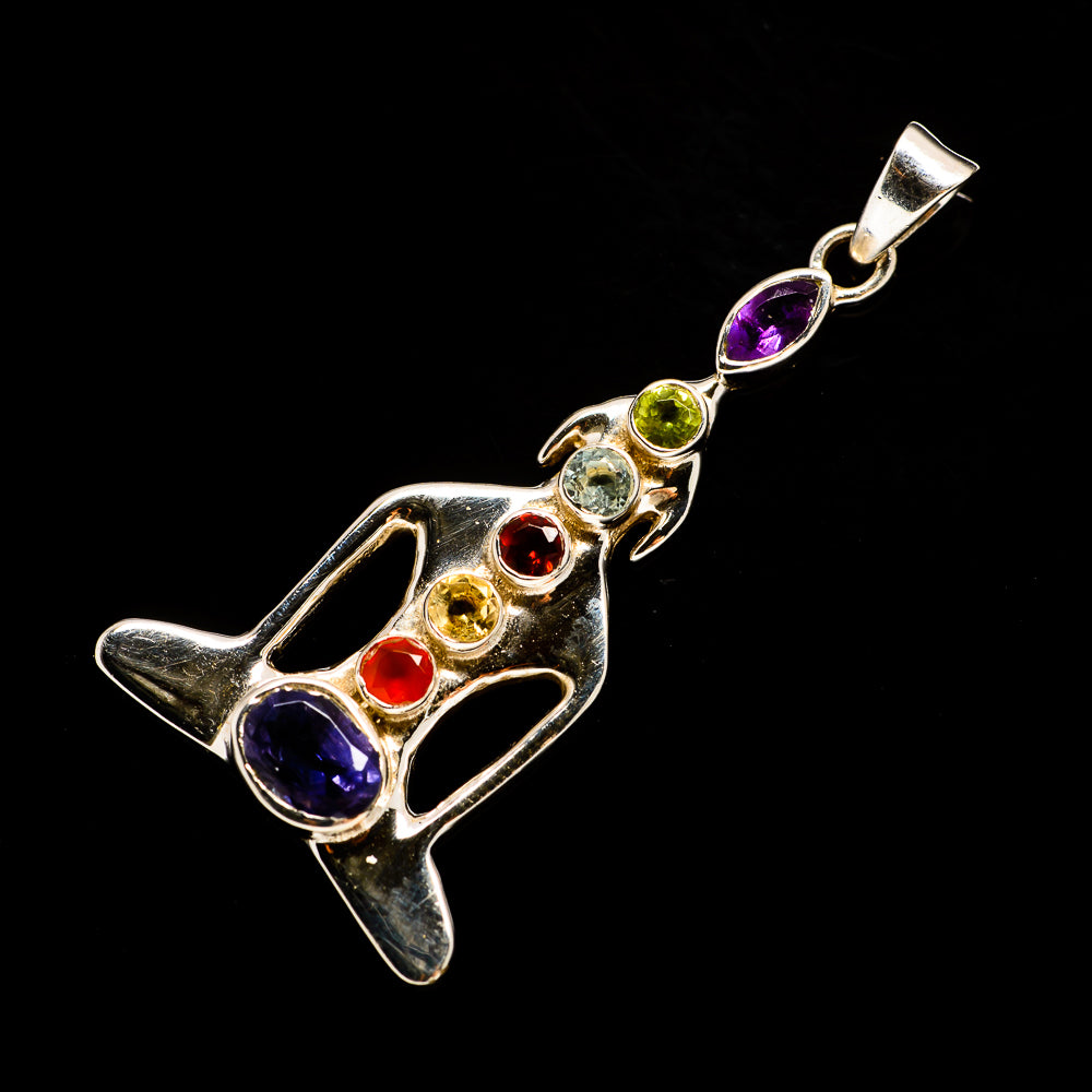 Multi-Stone Chakra Pendants handcrafted by Ana Silver Co - PD726540