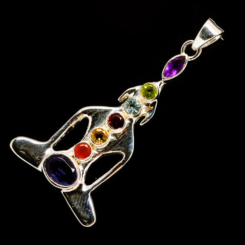 Multi-Stone Chakra Pendants handcrafted by Ana Silver Co - PD726624