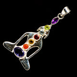 Multi-Stone Chakra Pendants handcrafted by Ana Silver Co - PD726735