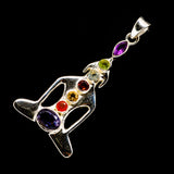 Multi-Stone Chakra Pendants handcrafted by Ana Silver Co - PD726768