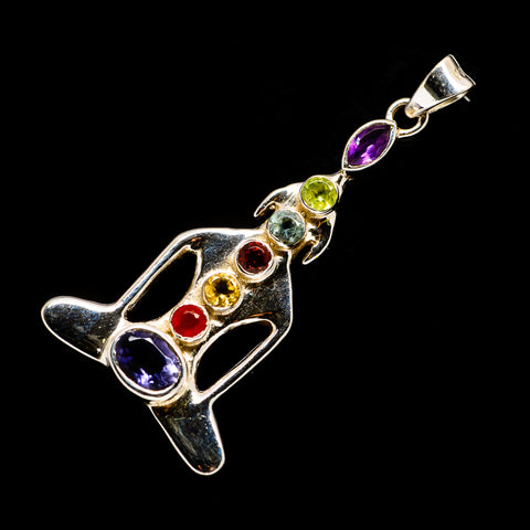 Multi-Stone Chakra Pendants handcrafted by Ana Silver Co - PD726774