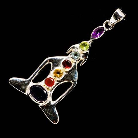 Multi-Stone Chakra Pendants handcrafted by Ana Silver Co - PD726777