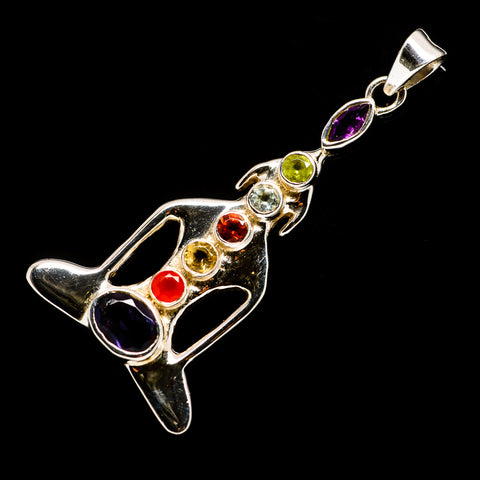 Multi-Stone Chakra Pendants handcrafted by Ana Silver Co - PD726798
