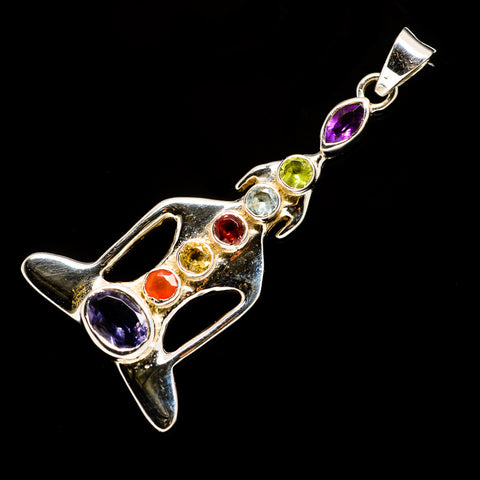 Multi-Stone Chakra Pendants handcrafted by Ana Silver Co - PD726827
