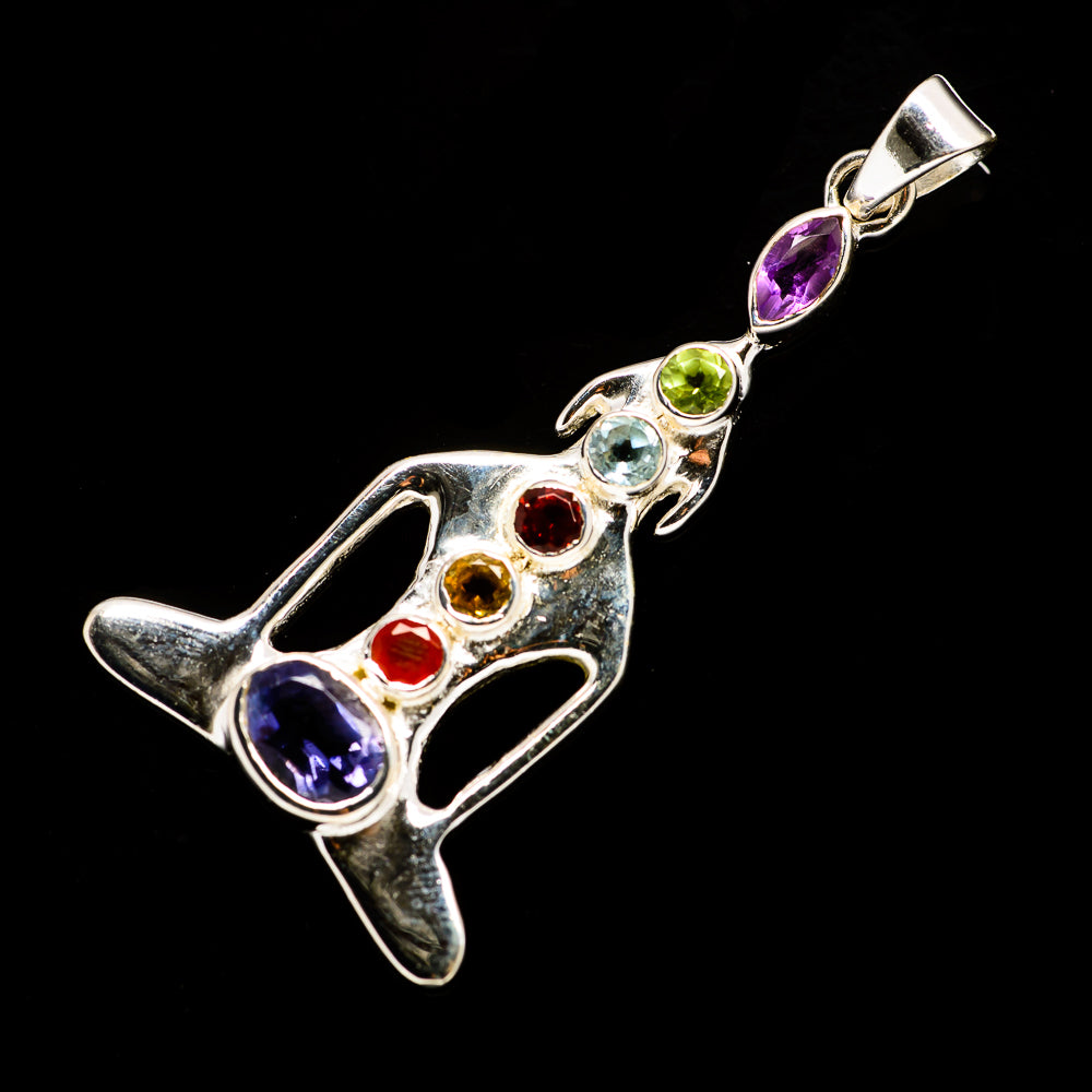 Multi-Stone Chakra Pendants handcrafted by Ana Silver Co - PD726859