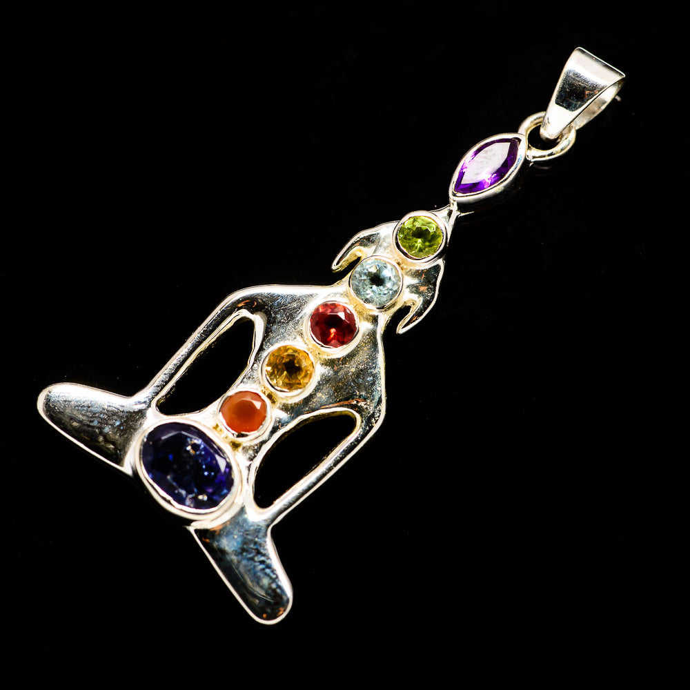 Multi-Stone Chakra Pendants handcrafted by Ana Silver Co - PD726860