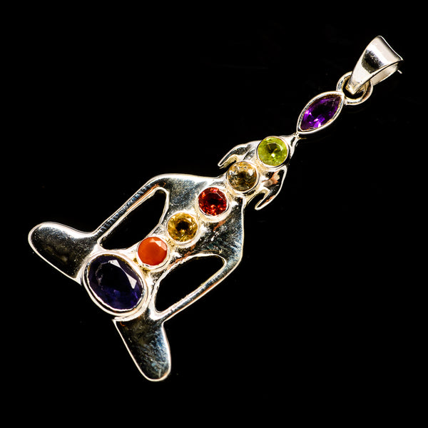 Multi-Stone Chakra Pendants handcrafted by Ana Silver Co - PD726986
