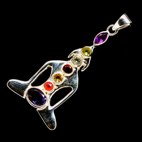 Multi-Stone Chakra Pendants handcrafted by Ana Silver Co - PD727075