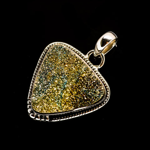 Spectro Pyrite Druzy Pendants handcrafted by Ana Silver Co - PD728503