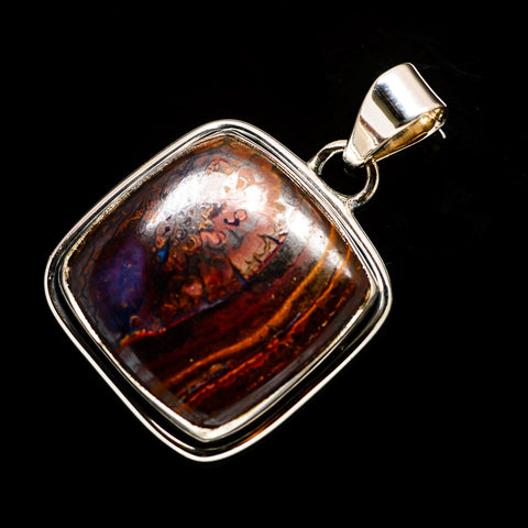 Boulder Opal Pendants handcrafted by Ana Silver Co - PD728643