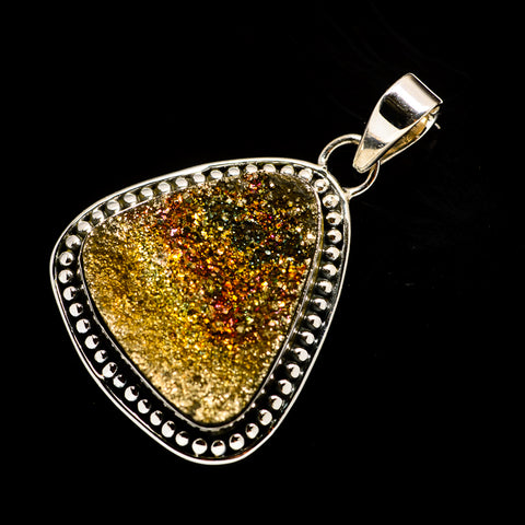Spectro Pyrite Druzy Pendants handcrafted by Ana Silver Co - PD728872