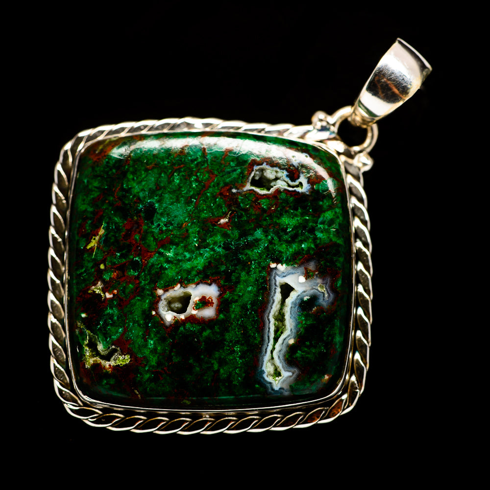 Chrysocolla Pendants handcrafted by Ana Silver Co - PD730079