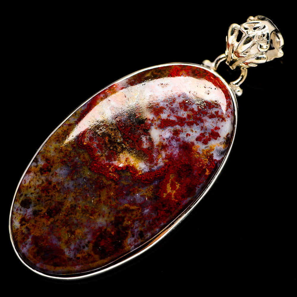 Indonesian Plume Agate Pendants handcrafted by Ana Silver Co - PD730450