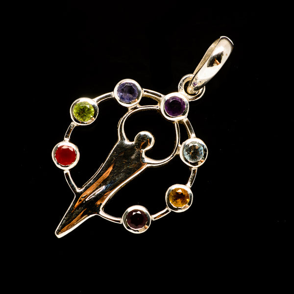 Multi-Stone Chakra Pendants handcrafted by Ana Silver Co - PD732012