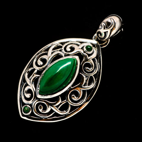 Malachite Pendants handcrafted by Ana Silver Co - PD732101