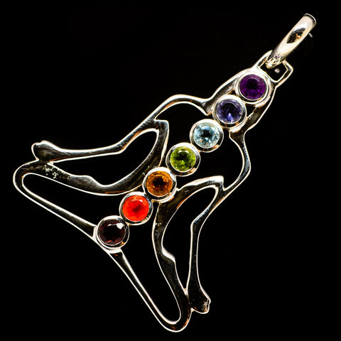 Multi-Stone Chakra Pendants handcrafted by Ana Silver Co - PD732183