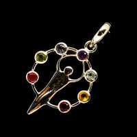 Multi-Stone Chakra Pendants handcrafted by Ana Silver Co - PD732201