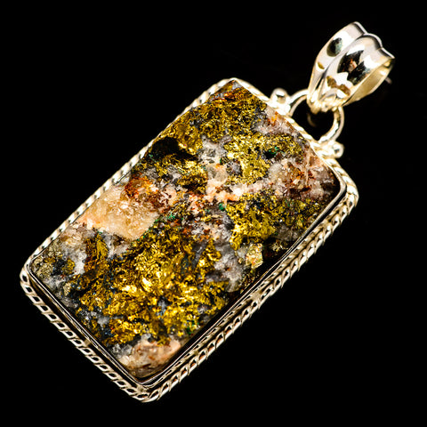 Spectro Pyrite Druzy Pendants handcrafted by Ana Silver Co - PD732238