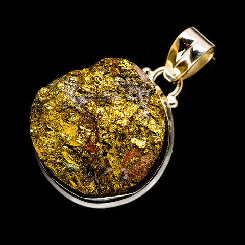 Spectro Pyrite Druzy Pendants handcrafted by Ana Silver Co - PD732574
