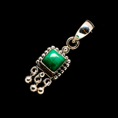 Malachite Pendants handcrafted by Ana Silver Co - PD732895
